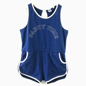 Junk Food party time retro sleeveless romper